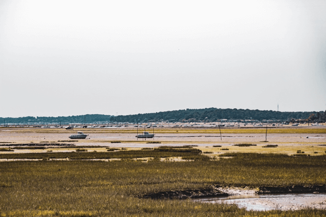 Vue du bassin depuis les communes du Bassin d'Arcachon